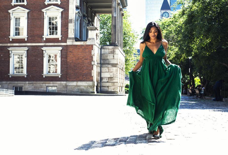 Tendance mode de la robe longue
